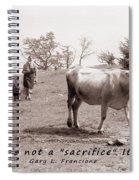 Veganism Is A Joy Spiral Notebook