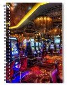 Vegas Slot Machines Spiral Notebook