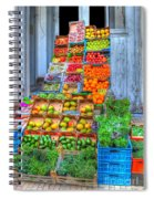 Vegetable And Fruit Stand Spiral Notebook