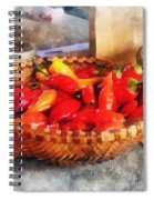 Vegetables - Hot Peppers In Farmers Market Spiral Notebook
