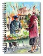 Vegetables Seller In A Provence Market Spiral Notebook