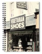 Vegetarian Shoes Spiral Notebook