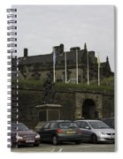 Vehicles At The Parking Lot Of Stirling Castle Spiral Notebook