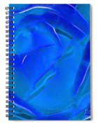 Veil Of Blue Spiral Notebook