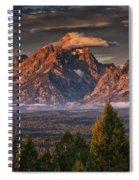 Veiled Tetons Spiral Notebook