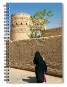 Veiled Woman In Yazd Street In Iran Spiral Notebook