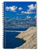 Velebit Mountain From Island Of Pag Spiral Notebook