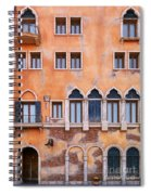 Venetian Building Wall With Windows Architectural Texture Spiral Notebook