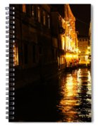 Venetian Golden Glow Spiral Notebook