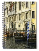 Venice Boats Spiral Notebook
