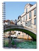 Venice Bridge Spiral Notebook