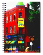 Venice Cafe' Painted And Edited Spiral Notebook