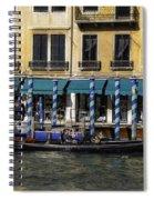 Venice Gondola Spiral Notebook