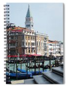 Venice Gondolas On Canal Grande Spiral Notebook