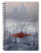 Venice In Rain Spiral Notebook