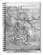 Venice: Map, 12th Century Spiral Notebook