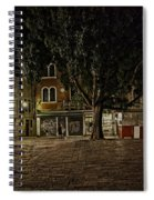 Venice Square At Night Spiral Notebook