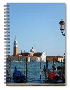 Venice View On Basilica Di San Giorgio Maggiore Spiral Notebook