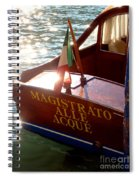 Venice Water Authority Boat Spiral Notebook