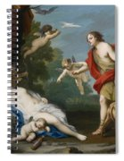 Venus And Adonis Spiral Notebook