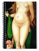 Venus And Amor Spiral Notebook
