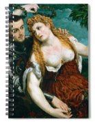 Venus Mars And Cupid Crowned By Victory Spiral Notebook