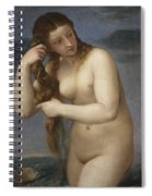 Venus Rising From The Sea Spiral Notebook