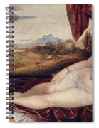 Venus With The Organ Player Spiral Notebook