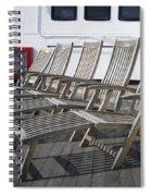 Verandah Seating 02 Queen Mary Ocean Liner Long Beach Ca Spiral Notebook