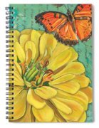 Verdigris Floral 2 Spiral Notebook
