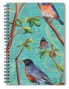 Verdigris Songbirds 1 Spiral Notebook