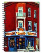 Verdun Landmarks Pierrette Patates Resto Cafe  Deli Hot Dog Joint- Historic Marquees -montreal Scene Spiral Notebook
