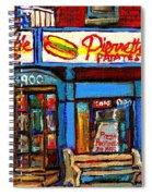 Verdun Restaurants Pierrette Patates Pizza Poutine Pepsi Cola Corner Cafe Depanneur - Montreal Scene Spiral Notebook