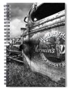 Vermin's Diner Rat Rod In Black And White Spiral Notebook