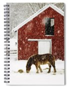 Vermont Christmas Eve Snowstorm Spiral Notebook