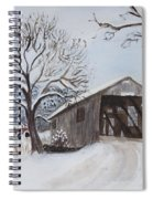 Vermont Covered Bridge In Winter Spiral Notebook