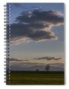 Vermont Grass Field Trees Clouds Adirondack Mountains New York Spiral Notebook