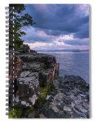 Vermont Lake Champlain Sunset Clouds Shoreline Spiral Notebook