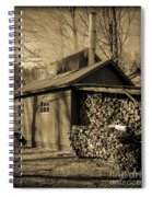 Vermont Maple Sugar Shack Circa 1954 Spiral Notebook