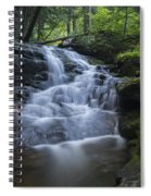 Vermont New England Waterfall Green Trees Forest Spiral Notebook