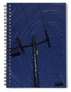 Vermont Night Sky Skiing Star Trails Spiral Notebook