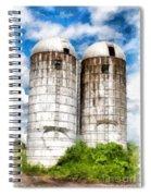 Vermont Silos Spiral Notebook