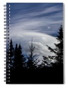 Vermont Tree Silhouette Clouds Cloudscape Spiral Notebook