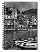 Vernazza - Cinque Terre In Grey Spiral Notebook
