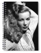 Veronica Lake Actress Spiral Notebook