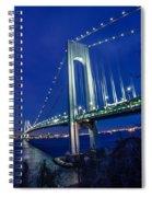 Verrazano-narrows Bridge At Night Spiral Notebook