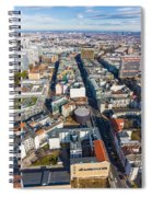 Vertical Aerial View Of Berlin Spiral Notebook