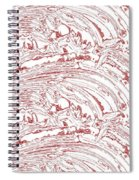 Vertical Panoramic Grunge Etching Burgundy Color Spiral Notebook