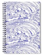 Vertical Panoramic Grunge Etching Royal Blue Color Spiral Notebook