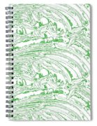 Vertical Panoramic Grunge Etching Sage Color Spiral Notebook